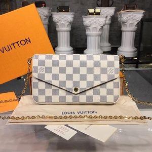 Louis Vuitton felicie crossbody damier azur